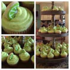 monogram and margarita cupcakes | Margarita Cupcakes! Thanks so much Mary Rollins!