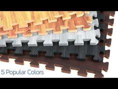 Premium Soft Wood Tiles - Interlocking Foam Mats