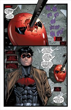 "Red Hood and the Outlaws #15 ""Be honest, is that a cowbar through your head, or are you just happy to see me?"""