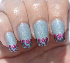 OMD2 challenge (Funky French): dotted French tips