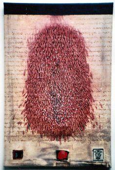 "takahikohayashi: ""D-18.Jul.1997 pen drawing on parchment 林孝彦  HAYASHI Takahiko 1997 """