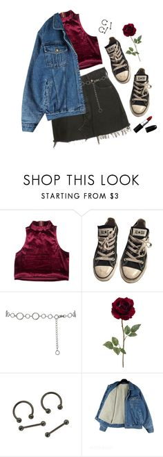 """""""Untitled #45"""" by bellabamboo ❤ liked on Polyvore featuring Levi's, Converse and M&Co"""