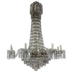Regency Style Cut Glass Chandelier - England c. 1820