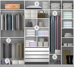 Feminino - Linha Project - Tok&Stok Corner Wardrobe Closet, Bedroom Closet Storage, Dressing Room Closet, Wardrobe Design Bedroom, Master Bedroom Closet, Bedroom Furniture Design, Bedroom Wardrobe, Bedroom Decor, Bedroom Cupboard Designs