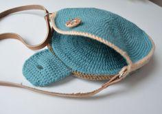 Round Bag crochet pattern overlay and por LillaBjornCrochet Más