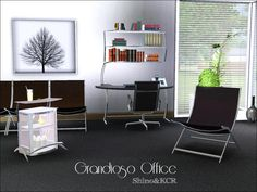 Grandioso Office by Shino & KCR  http://www.thesimsresource.com/downloads/1178220