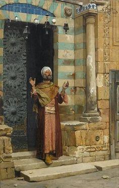 Ludwig Deutsch - An der Tür der Moschee 1886
