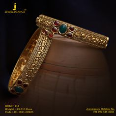 Gold 916 Premium Design Get in touch with us on Indian Jewelry Earrings, Antique Earrings, Jewelery, Gold Bangles Design, Gold Jewellery Design, Bridal Bangles, Bridal Jewelry, Gold Pendent, Beaded Jewelry Designs