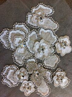 Gorgeous beaded vintage trim - this is a great way to create your own look without costing a lot.  Perfect for ivory, off white and champagne colored gowns.