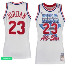 3946b1f886a Men s Chicago Bulls Michael Jordan Mitchell   Ness White 1991 All-Star  Hardwood Classics Authentic Jersey