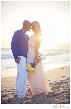 Beach wedding photo by Acken Studios