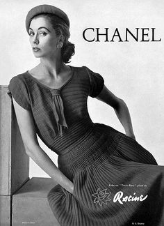 Suzy Parker in Chanel ad, photo by Tom Kublin, 1954   Flickr