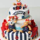 Navy themed christening cake for Albert