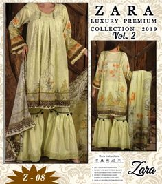 Zara vol 2 Luxury premium collection 2019 pakistani Suits. Buy wholesale price Summer Collection Original Lawn Zara vol 2 luxury premium collection pakistani dress at catalog fashion mart in Surat. Pakistani Suits, Anarkali Suits, Pakistani Dresses, Latest Salwar Kameez, Shalwar Kameez, Catalog Fashion, Floor Length Anarkali, Buy Wholesale, Traditional Outfits