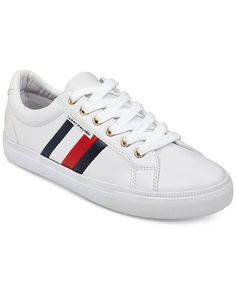 3683c1c2166dcd Tommy Hilfiger Women s Lightz Lace-Up Fashion Sneakers - White 9M