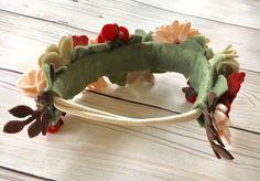 Zipper Flowers, Felt Flowers, Fabric Flowers, Felt Diy, Handmade Felt, Felt Crafts, Felt Headband, Headbands, Ribbon Flower Tutorial