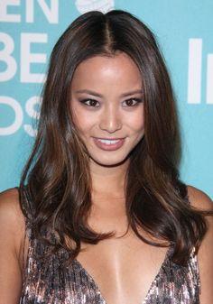 Jamie Chungs elegant, wavy hairstyle- love her hair!