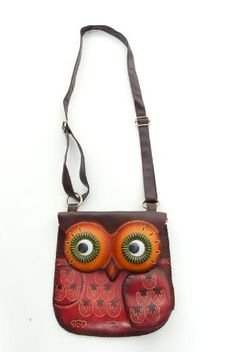 Hand Made Leather Throwback Owl Purse