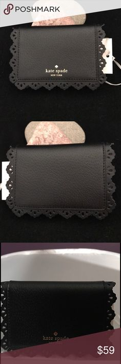 Kate Spade Cecelia Fordham Card Case NWT/BLACK ✅ALWAYS OPEN TO OFFERS-unless marked firm on price ✅OFFERS SHOULD BE MADE THROUGH POSH OFFER FEATURE ✅PRICES NOT DISCUSSED IN COMMENTS  ✅FEEL FREE TO ASK ANY QUESTIONS  ✅MSRP $78 + tax ✅Kate Spade Cecelia Fordham Card Case NWT/BLACK ❎NO TRADES kate spade Accessories Key & Card Holders