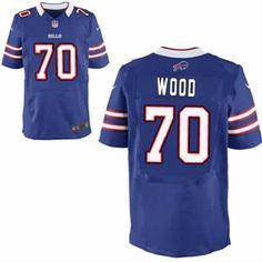 Eric Wood Jersey Buffalo Bills #70 Men Blue Elite Jersey Nike NFL Jersey Sale