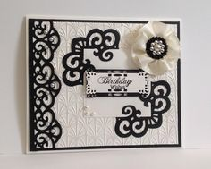 Made with Sue Wilson's craft dies, Italian collection, Spanish collection and her beautiful embossing folder Art Deco Fanfare