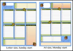 Weekly to a Page planner - available in A4 and Letter size. Print as many times as you like for just $1!