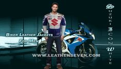 Jackets Lower Price with Suzuki 4269 White Motorbike Motorcycle Cowhide Leather Jacket And Leather Gloves Apparel & Merchandise