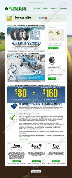 Brand - Sullivan Tire & Automobile Services Co:  Subject:  Buy 3 Get 1 Free on Most Snow Tires In Stock