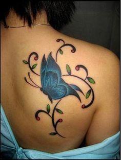 LOVE blue butterfly!