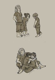 When Fili and Kili first met Ori.