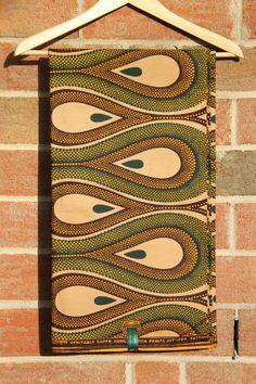 Desert Plume Print BATIK Ankara African wax, $15.50