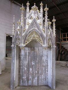 Antique Gothic Church Altar - Barn Find! - Architectural Salvage -NR