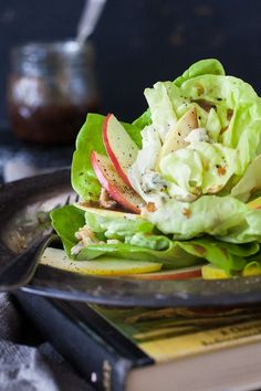 8 Tasty Spring Vegetable Recipes: green dragon apple salad with butter lettuce, blue cheese crumbles, and walnuts Side Recipes, Apple Recipes, Healthy Recipes, Kabob Recipes, Fondue Recipes, Snacks Recipes, Eat Healthy, Potato Recipes, Vegetable Dishes