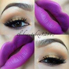 Bold makeup with Mac Heroine lipstick --- i want this lipstick SO BAD!!!!!!!!