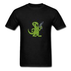 Alien Dinosaur T-Shirt #Tshirt #Alien #AlienDinosaur #Dinosaur #Reptoid #Reptilian Classic-cut standard weight t-shirt for men, 100% pre-shrunk cotton, Brand: Gildan