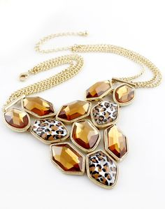 Shop Yellow Leopard Gemstone Gold Multilayer Chain Necklace online. Sheinside offers Yellow Leopard Gemstone Gold Multilayer Chain Necklace & more to fit your fashionable needs. Free Shipping Worldwide!