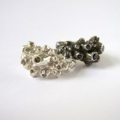 Black Diamond Barnacle Ring by Kristen Dorsey, available at Beyond Buckskin Boutique