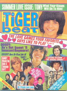 Tiger Beat, Aug. 1974 - DeFranco Family, Donny Osmond, Happy Days, Randy Mantooth, Vince Van Patten, Christopher Knight, and more