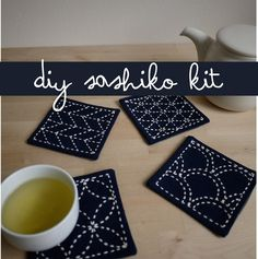 Gifts for DIYers: DIY embroidered coasters kit