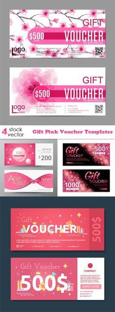 Vectors - Gift Pink Voucher Templates