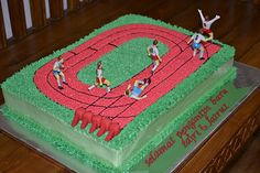 track and field cake :)