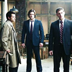 Team Free Will! All with their patented worried-but-sexy looks on their faces