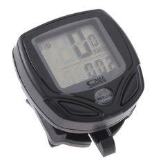 Lixada LCD Velocimetro inalámbrico para Bicicleta cuentakilómetro Wireless,Negro