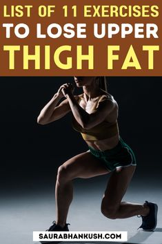 This is the list of 11 exercises to lose upper thigh fat for women. These workout to lose upper thigh fat takes like 20 minutes and my sister says she feels really nice with these exercises. Squat Form, Inner Thigh Lifts, Lose Thigh Fat Fast, Fun Workouts, Workout Ideas, Thigh Muscles, Side Lunges, Facial Exercises