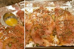 Baked Catfish with Herbs - catfish fillets topped with an herb blend, butter and lemon and baked until golden. Quick and easy weeknight dinner. Fish Dishes, Seafood Dishes, Fish And Seafood, Seafood Recipes, Dinner Recipes, Cooking Recipes, Healthy Recipes, Dinner Ideas, Pork Recipes