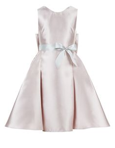 A stand-out choice for special occasions, our Viera duchess satin party dress for girls is decorated with an oversized bow on the back. Finished with a sash ...