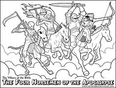 The Villains Of Bible Coloring Pages Great For Your VBS Sunday School Or