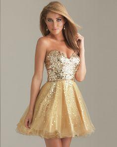 GOLD STUNNING CORSET Vestito Per Ballo Scolastico ce3e78a4f06