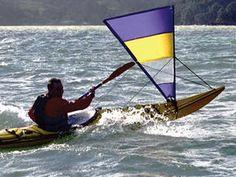 kayak sail Pacific Action V-sail