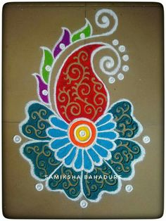 51 Diwali Rangoli Designs Simple and Beautiful - bunny - HotelsPedi Simple Rangoli Designs Images, Rangoli Designs Latest, Rangoli Designs Flower, Rangoli Border Designs, Small Rangoli Design, Rangoli Patterns, Colorful Rangoli Designs, Rangoli Ideas, Rangoli Designs Diwali